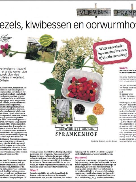Sprankenhof Udenhout nieuws bericht in Volkskrant