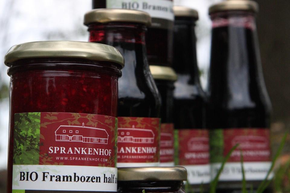 compositie van producten van Sprankenhof, deze zijn op verschillende verkooppunten in de regio te koop