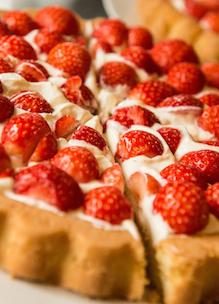Aardbeienvlaai met biologische ingrediënten Sprankenhof Udenhout Tilburg