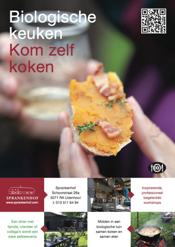 Voorkant folder 2016 biologische keuken Sprankenhof
