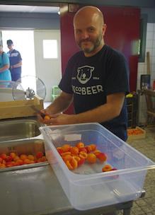 Louis Klomp maakt ijscobeer ijsjes fruitijsjes zonder gluten lactose kleurstoffen en E-nummers en vol biologisch fruit
