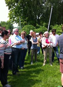arrangementen idee groep mensen krijgt rondleiding op Sprankenhof