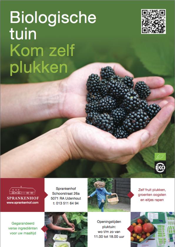 Voorkant folder 2016 biologische tuin Sprankenhof